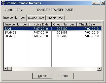 automotive software (news), Invoice templates